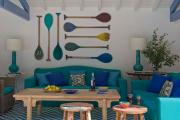 Фото 5 Бирюзовый диван в интерьере: 60+ фотоидей потрясающих вариантов мебели в цвете Тиффани