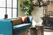 Фото 14 Бирюзовый диван в интерьере: 60+ фотоидей потрясающих вариантов мебели в цвете Тиффани