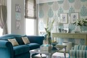 Фото 17 Бирюзовый диван в интерьере: 60+ фотоидей потрясающих вариантов мебели в цвете Тиффани