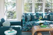 Фото 30 Бирюзовый диван в интерьере: 60+ фотоидей потрясающих вариантов мебели в цвете Тиффани
