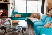 Фото 2 Бирюзовый диван в интерьере: 60+ фотоидей потрясающих вариантов мебели в цвете Тиффани