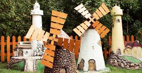 Декоративная мельница для сада своими руками: пошаговая инструкция, фото чертежей и мастер-классы фото