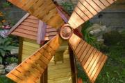 Фото 5 Декоративная мельница для сада своими руками: пошаговая инструкция, фото чертежей и мастер-классы