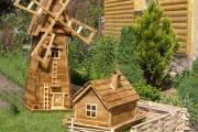 Фото 8 Декоративная мельница для сада своими руками: пошаговая инструкция, фото чертежей и мастер-классы