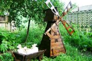 Фото 19 Сад без проблем: делаем декоративную мельницу своими руками