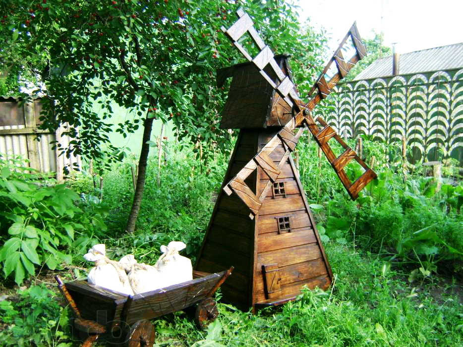 Ветряная мельница для дачи своими руками 21