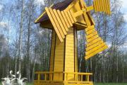 Фото 24 Декоративная мельница для сада своими руками: пошаговая инструкция, фото чертежей и мастер-классы