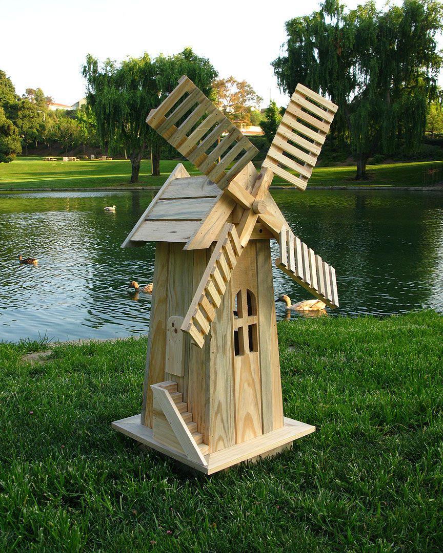 Как сделать декоративную водяную мельницу 57