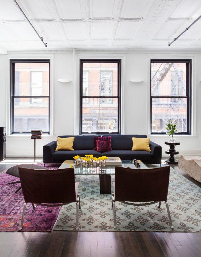 Оптимальное решение для квартиры, площадью 40 кв. метров - это опен-спейс и объединенные пространства