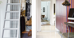 Место всегда найдется: 70+ восхитительно практичных идей переделки гардеробной из кладовки фото