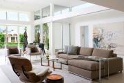 Фото 14 Этюд в нюдовых тонах: 60+ вариантов дизайна гостиной бежево-коричневого цвета