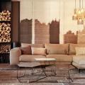 Этюд в нюдовых тонах: 60+ вариантов дизайна гостиной бежево-коричневого цвета фото