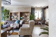 Фото 21 Этюд в нюдовых тонах: 60+ вариантов дизайна гостиной бежево-коричневого цвета
