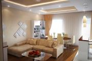 Фото 23 Этюд в нюдовых тонах: 60+ вариантов дизайна гостиной бежево-коричневого цвета