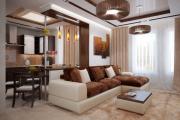 Фото 27 Этюд в нюдовых тонах: 60+ вариантов дизайна гостиной бежево-коричневого цвета