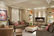 Фото 29 Этюд в нюдовых тонах: 60+ вариантов дизайна гостиной бежево-коричневого цвета