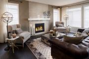 Фото 31 Этюд в нюдовых тонах: 60+ вариантов дизайна гостиной бежево-коричневого цвета