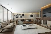 Фото 33 Этюд в нюдовых тонах: 60+ вариантов дизайна гостиной бежево-коричневого цвета