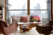 Фото 8 Этюд в нюдовых тонах: 60+ вариантов дизайна гостиной бежево-коричневого цвета