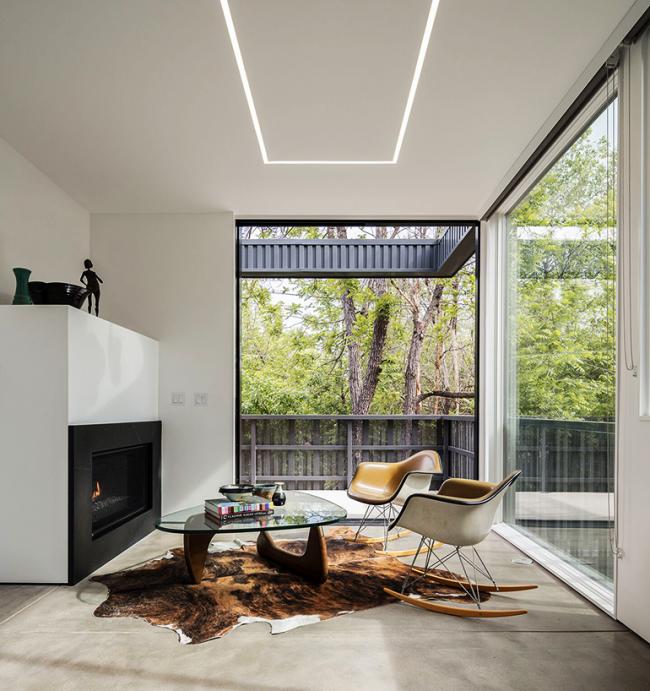 Умеренное применение цвета создает стильный образ помещения