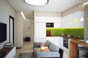 Фото 5 Кухня-гостиная площадью 12 кв. м: создаем продуманный интерьер от минимализма и хай-тека до классики и лофта