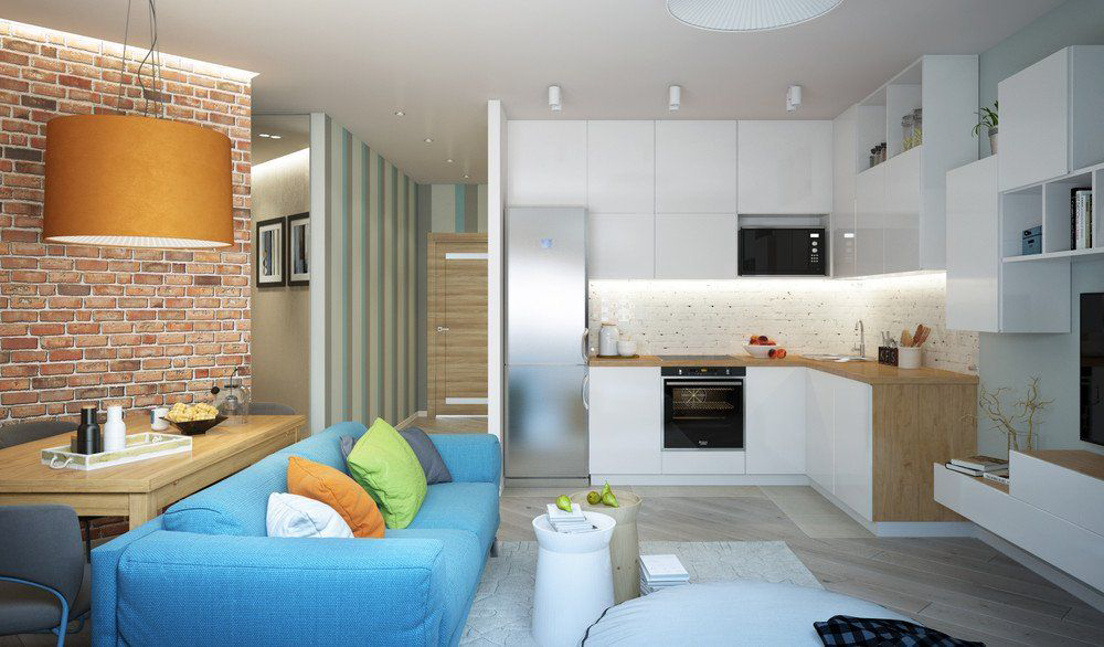 Дизайн квартиры 41 квм в современном стиле