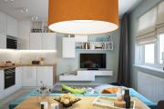 Фото 18 Кухня-гостиная площадью 12 кв. м: создаем продуманный интерьер от минимализма и хай-тека до классики и лофта