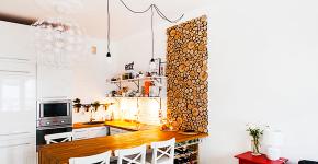 Две зоны и всего 14 кв. метров: создаем современный интерьер небольшой кухни-гостиной фото