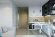 Фото 6 Две зоны и всего 14 кв. метров: создаем современный интерьер небольшой кухни-гостиной