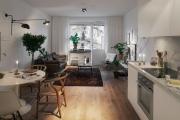 Фото 8 Две зоны и всего 14 кв. метров: создаем современный интерьер небольшой кухни-гостиной