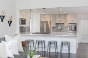 Фото 10 Две зоны и всего 14 кв. метров: создаем современный интерьер небольшой кухни-гостиной