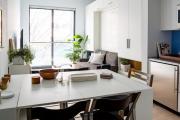Фото 12 Две зоны и всего 14 кв. метров: создаем современный интерьер небольшой кухни-гостиной