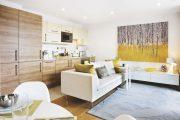 Фото 14 Две зоны и всего 14 кв. метров: создаем современный интерьер небольшой кухни-гостиной