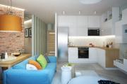 Фото 15 Две зоны и всего 14 кв. метров: создаем современный интерьер небольшой кухни-гостиной
