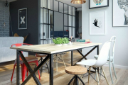 Фото 35 Две зоны и всего 14 кв. метров: создаем современный интерьер небольшой кухни-гостиной