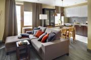 Фото 19 Две зоны и всего 14 кв. метров: создаем современный интерьер небольшой кухни-гостиной