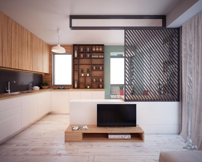 Просторная площадь, позволяющая воплотить самые смелые решения в области дизайна интерьера