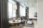 Фото 21 Две зоны и всего 14 кв. метров: создаем современный интерьер небольшой кухни-гостиной