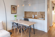 Фото 28 Две зоны и всего 14 кв. метров: создаем современный интерьер небольшой кухни-гостиной