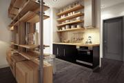 Фото 1 Две зоны и всего 14 кв. метров: создаем современный интерьер небольшой кухни-гостиной