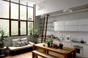 Фото 5 Гостиная-кухня площадью 20 кв. м: обзор современных дизайн-проектов и планировок