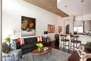 Фото 3 Гостиная-кухня площадью 20 кв. м: обзор современных дизайн-проектов и планировок