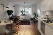 Фото 6 Гостиная-кухня площадью 20 кв. м: обзор современных дизайн-проектов и планировок