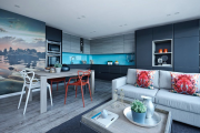 Фото 1 Гостиная-кухня площадью 20 кв. м: обзор современных дизайн-проектов и планировок