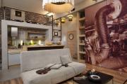 Фото 19 Гостиная-кухня площадью 20 кв. м: обзор современных дизайн-проектов и планировок