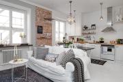 Фото 20 Гостиная-кухня площадью 20 кв. м: обзор современных дизайн-проектов и планировок