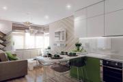Фото 24 Гостиная-кухня площадью 20 кв. м: обзор современных дизайн-проектов и планировок