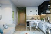 Фото 30 Гостиная-кухня площадью 20 кв. м: обзор современных дизайн-проектов и планировок