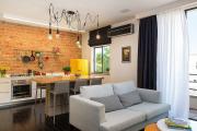 Фото 31 Гостиная-кухня площадью 20 кв. м: обзор современных дизайн-проектов и планировок