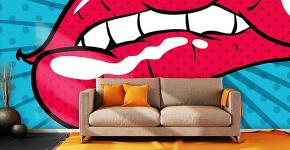 По стопам Энди Уорхола: подборка ярких интерьеров с обоями и постерами в стиле поп-арт фото